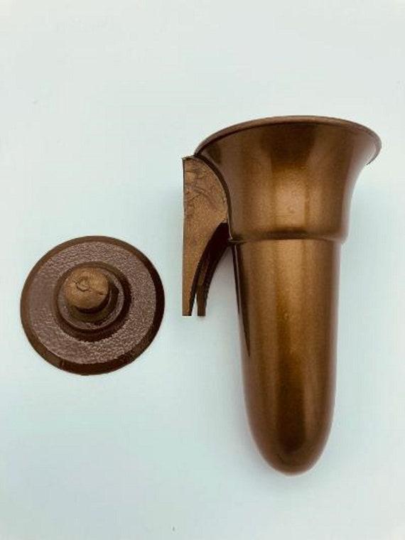 Mausoleum Crypt Vase 4.0 IN - Royal Duchess - (EPOXY) Disc Button Support-