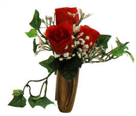 Niche Red Rose Baby's Breath Ivy - NO Vase