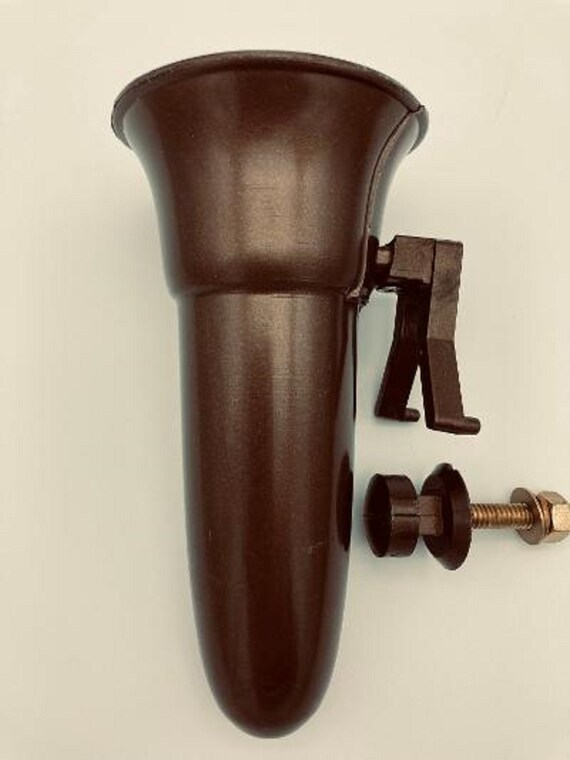 Mausoleum Crypt Vase 5.5 IN - Royal Duchess - Bolt / Button Support -