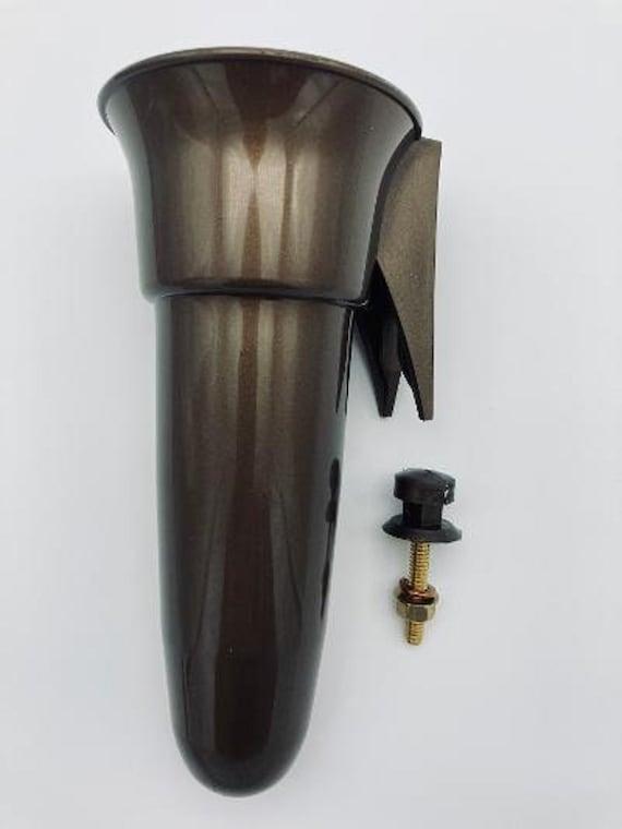 Crypt / Mausoleum Flower Vase - 7.75 IN Bolt / Button Support -