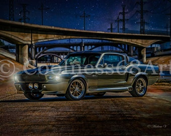 Ford Mustang Shelby GT500 Angelina Jolie Eleanor Poster Nicolas Cage Gone in 60 Seconds Sports Car Posters Custom Movies Posters