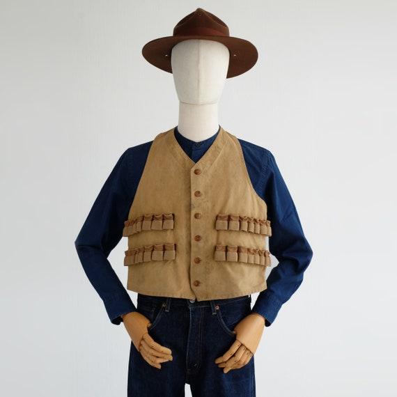 Vintage Duxbak Hunting Vest 20s 30s – Medium