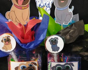 Puppy dog pals Party box filled