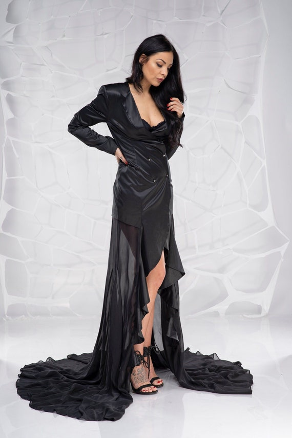 Gothic Dress, Prom Gown, Black Gown, Plus Size Clothing, Formal Gown,  Gothic Wedding Dress, Long Black Dress, Gothic Clothing, Evening Dress
