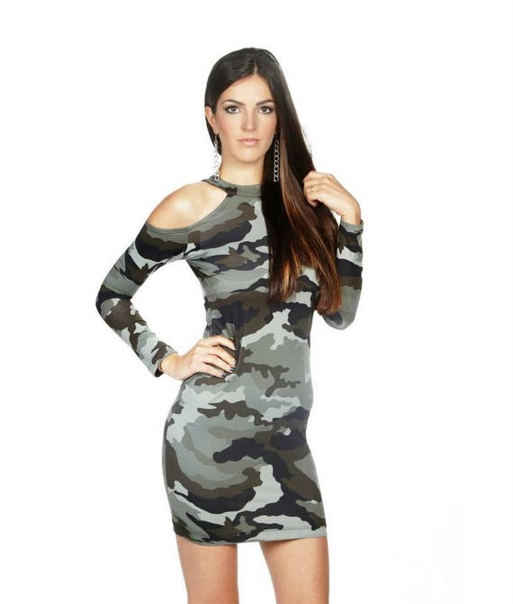 military tight p military military dress shoulder military Military sleeve bare dress dress dress Long military short dress xgqzx6Y4