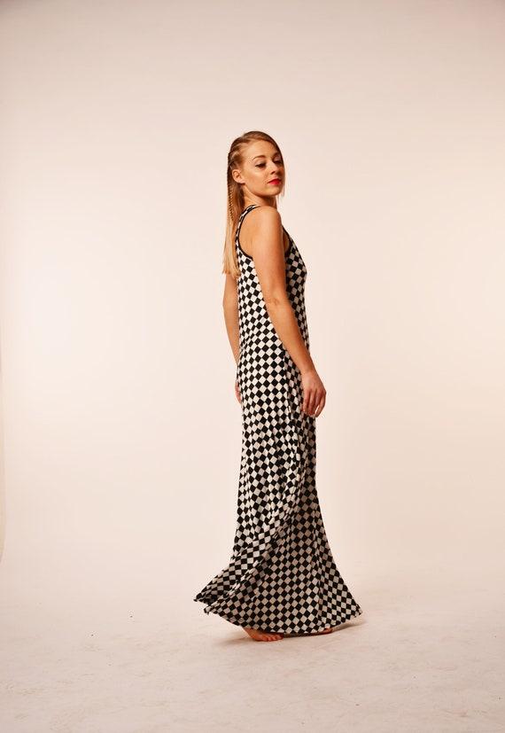 Plus Size Maxi Dress, Plaid Dress, Tartan Dress, Plus Size Clothing,  Checkered Dress, Retro Dress, Maxi Dress For Women, Tank Dress