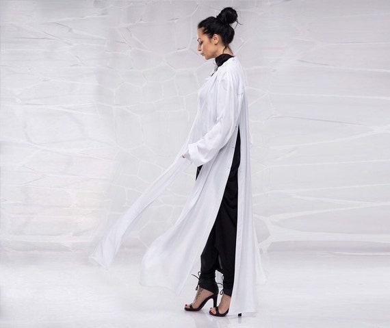 Long Maxi TunicLoose Natural Linen TopWoman plus size TunicLinen shirtMaxi KaftanSummer Long TopExtravagant TunicOversize shirtT1808