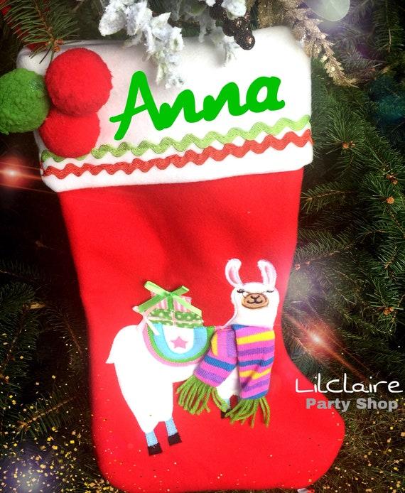 Llama Christmas Stocking.Llama Christmas Stocking