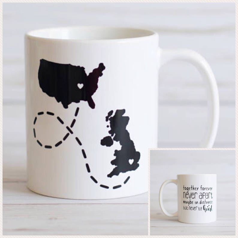 Long Distance Coffee Mug Country to Country State to State image 0