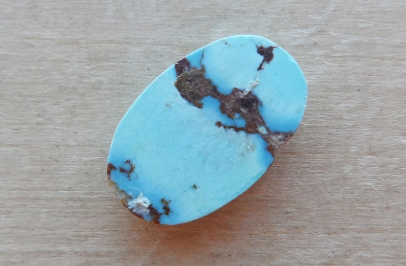 Untreated Turquoise Cabochon oval form shape
