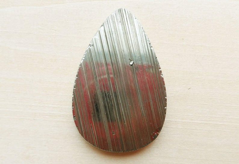 Pyrite wild cabochon pear form