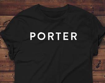 Porter Beer T-shirt // Craft Beer Shirt // Brewing Gift // Beer Geek Tee // Homebrewer Gift