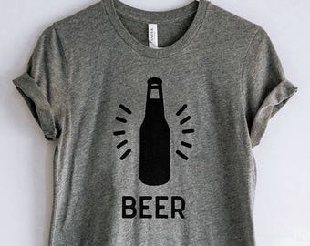 Beer Bottle Shirt // Craft Beer Tshirt // Beer Lover Gift // Homebrewer Gift // Beer Gift // Beer Shirt