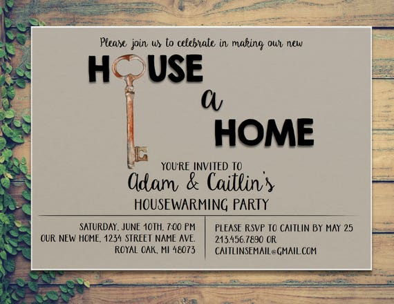 housewarming party invitation making house a home etsy