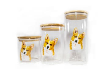 Corgi air-tight treat/food container
