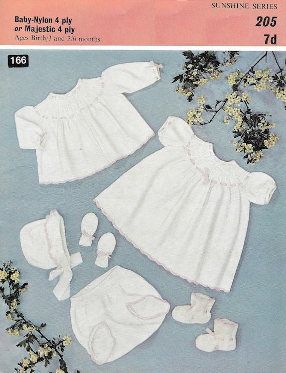 9d5e5fdb6eb5 Baby knit set PDF knitting pattern 1960s girls dress