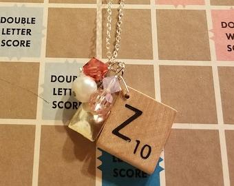 Scrabble tile Z necklace