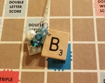 Scrabble tile B necklace