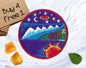 Heaven Patches Cosmic Patches Embroidered Patch Iron Patches