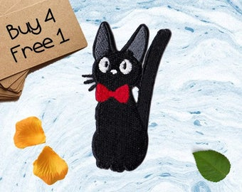 Jiji Patches Cat Patch Iron On Patch Embroidered Patch Sew On Patch Cute Patches Patches For Girls