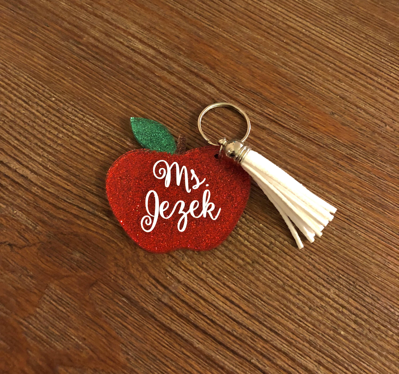 Apple Key Chain Teacher Appreciation Key Chain Teacher Gift
