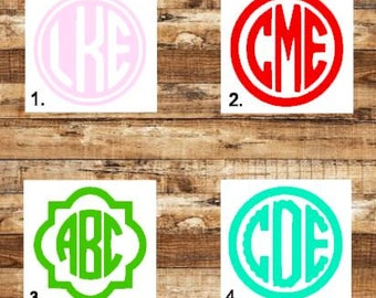 Monogram Decal/Yeti Decal/Car Decal/Monogram Sticker/Monogram Decals/Rtic Decal/Tumbler Decals/Custom Monogram/Personalized Decal/Monogram