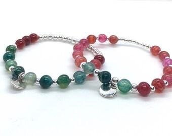 Inspirational gemstone Bracelet Alma made of tourmaline