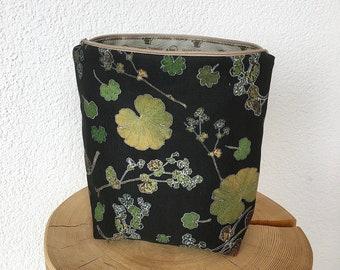 Toilet bag, cosmetic bag, Necessaire, travel bag, botanical, woman's coat, alchemilla, nature, plants, alpine, Switzerland