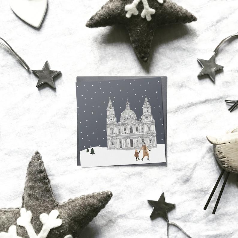 Biglietti di Natale di Londra cartoline di Natale Cattedrale image 0