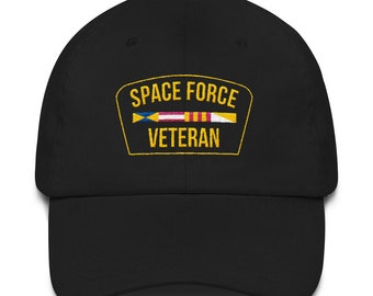 d38b5f162c96a5 Space Force Veteran Ribbon Military Veteran Dad Hat