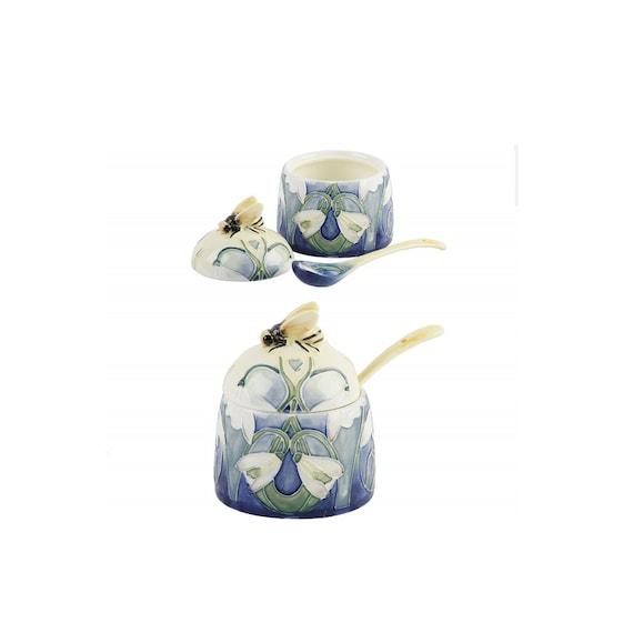 Poppy Fields Honey Pot Jam Jar 1364 Preserves Sauces Spoon Old Tupton Ware