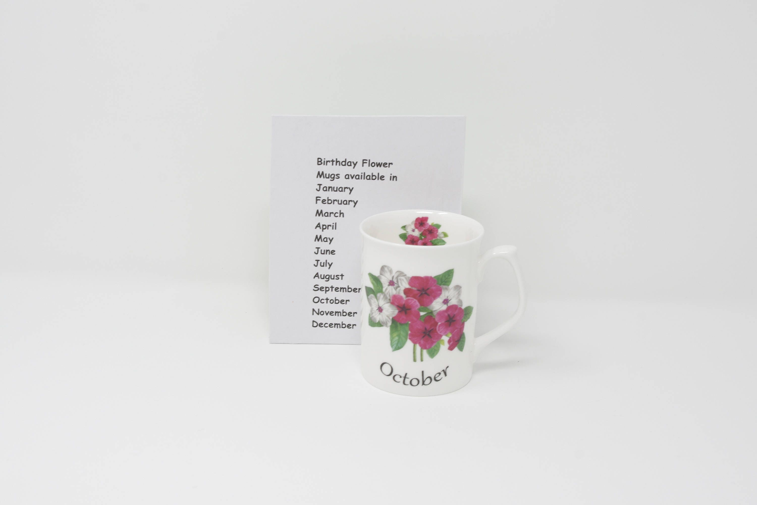 October Birthday Mug Pansy 5363 Flower Of The Month Bone China