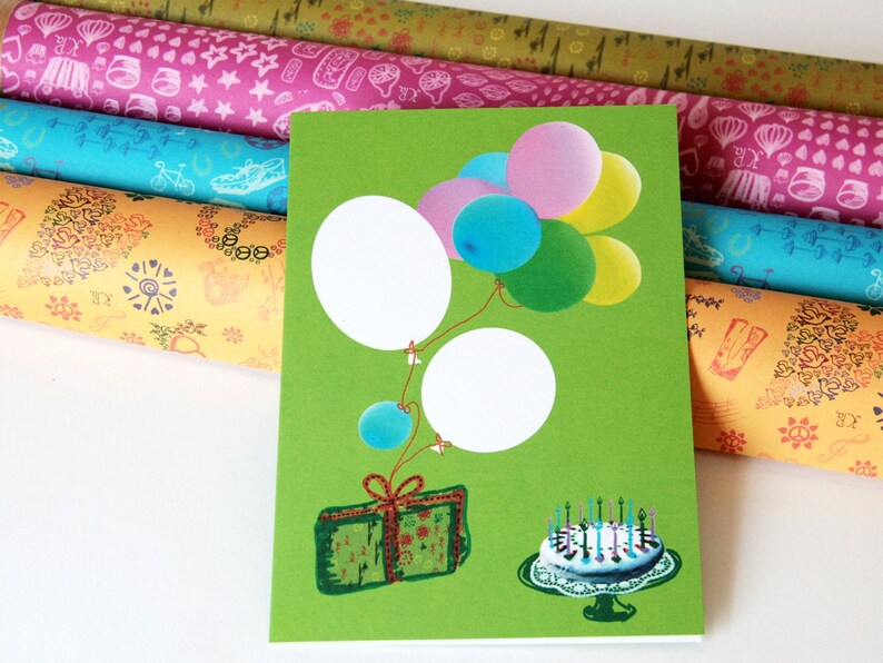 birthday card ballons image 1