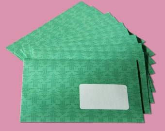 Envelop christmas green