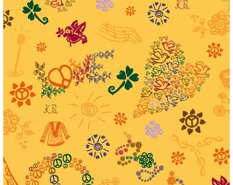 wrapping paper - hippie and summer