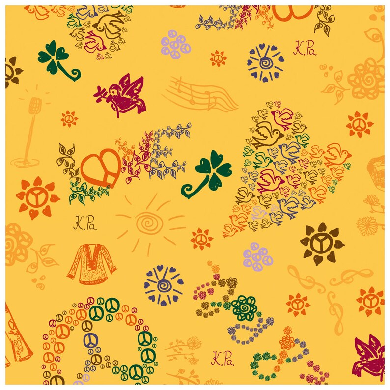 wrapping paper  hippie and summer image 1