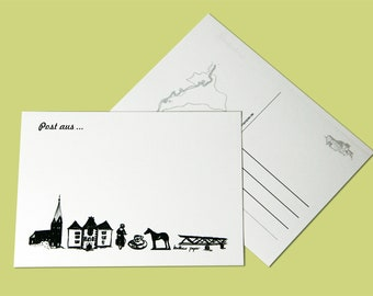 postcard Fürstenberg white