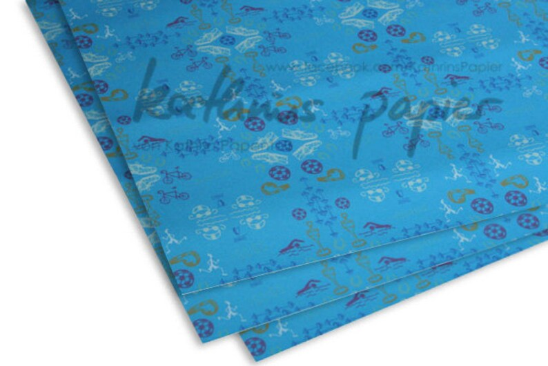 Gift Wrapping Paper Sports Football Set image 1