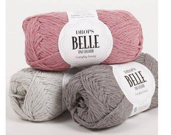 DROPS Belle, Cotton Linen Viscose yarn, Crochet yarn, Knitting yarn, DK yarn, Worsted yarn, Summer knitting, Summer fiber, Drops yarn