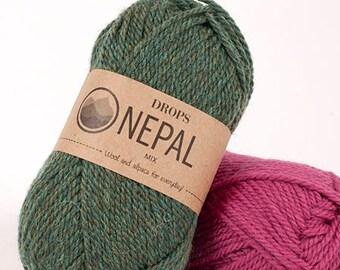 cfe760bd938d63 DROPS Nepal - Wool yarn - Knitting yarn - Aran weight yarn - Worsted yarn -  Soft yarn - Warm yarn - Winter knitting - Knitting yarn wool