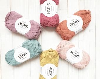 DROPS Paris, Knitting yarn, Cotton yarn, Crochet yarn, Crochet cotton yarn, Aran yarn, Worsted yarn, Summer yarn, Soft yarn, Natural yarn