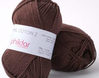 Cotton crochet yarn - Sport weight knitting yarn - Amigurumi yarn PHILDAR COTON 2