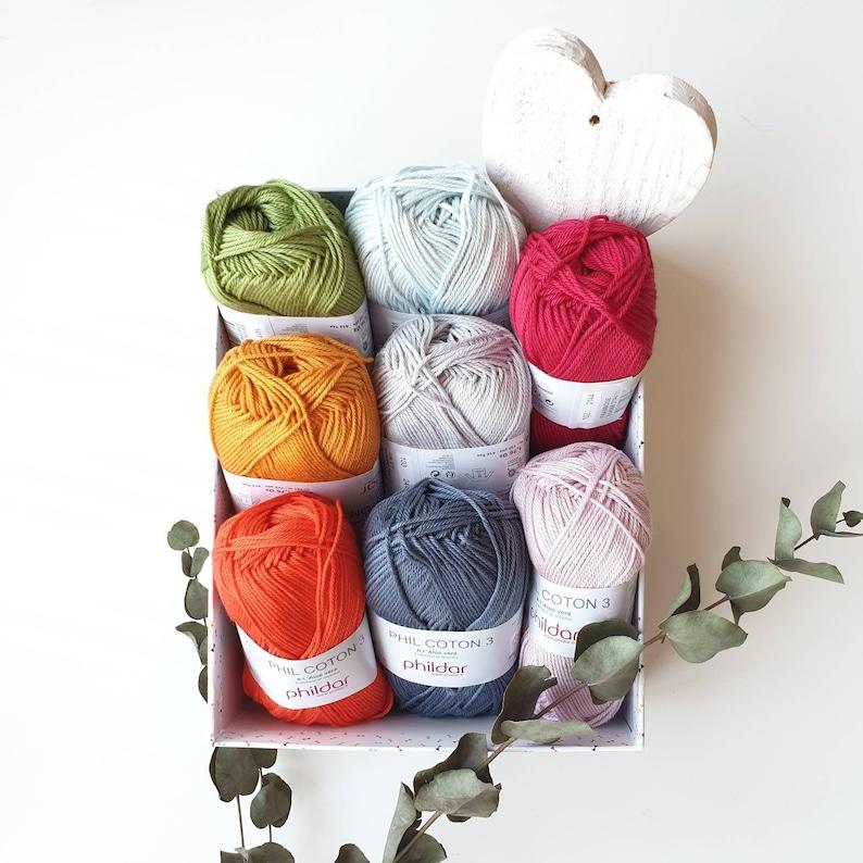 Mercerized cotton crochet yarn with aloe vera PHILDAR COTON 3 image 0