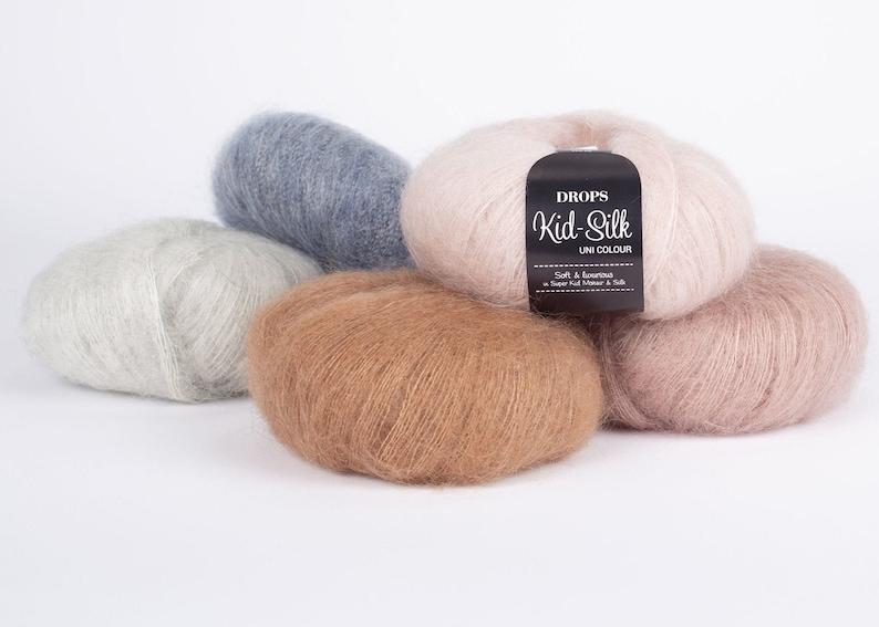 Mohair yarn Kid mohair DROPS Kid-Silk Lace yarn Mohair image 1