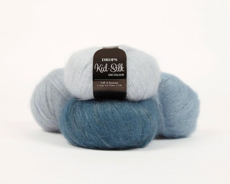 Mohair yarn Kid mohair DROPS Kid-Silk Lace yarn Mohair image 0