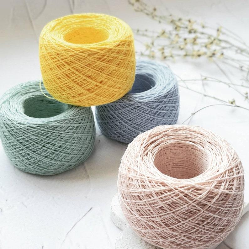 Lithuanian LINEN lace weight yarn, Summer yarn in 50 g (1 8 oz) balls,  linen yarn