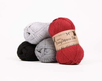 Alpaca yarn - Silk and Baby Alpaca yarn - DROPS BabyAlpaca Silk - Wool yarn - DROPS yarn - Sport yarn - Baby yarn - Knitting wool