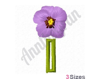 African Violet Flower 3 Sizes Machine Embroidery Design