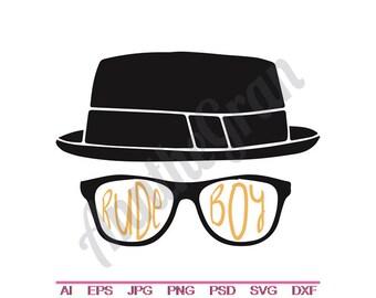 4cb05a6e843ec Hipster Fedora   Glasses - Svg