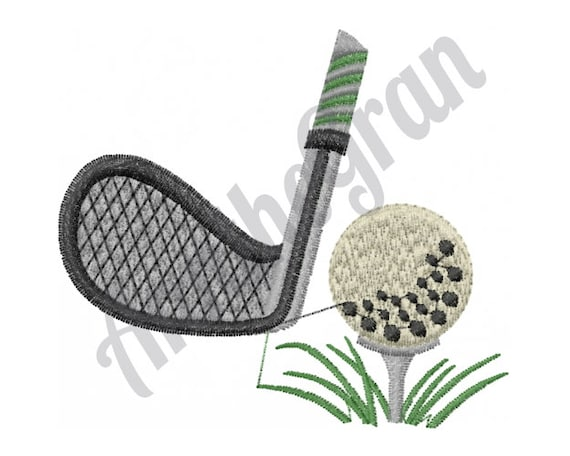 Golf Club Embroidery Design Ball Embroidery Design Machine Etsy